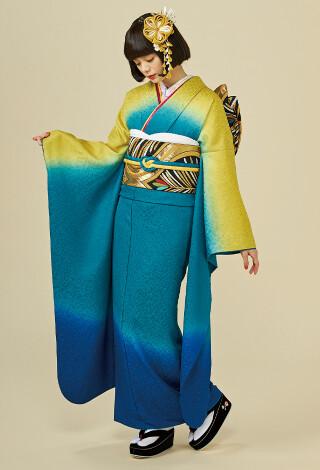 NO.004 花がぁる 花らふるぼかし 紺青緑黄
