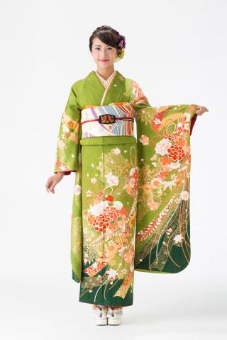 【14-181】抹茶・白染分/色花・緑花手毬・のしめ