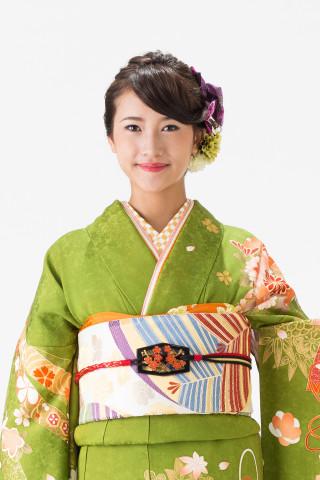 【14-181】抹茶・白染分/色花・緑花手毬・のしめの衣装画像2