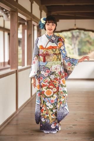 本きもの松葉オリジナル振袖【和振】HM20-010の衣装画像1