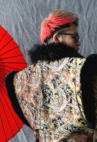男子成人式 金蘭地オリジナル羽織袴フルセットの衣装画像2