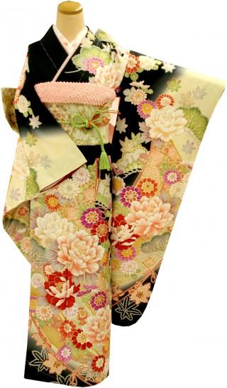 人気ブランド『ミルフィーユ』シリーズの振袖 23点フルセット 正絹(シルク100%)