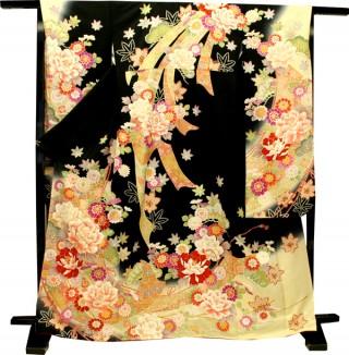 人気ブランド『ミルフィーユ』シリーズの振袖 23点フルセット 正絹(シルク100%)の衣装画像2