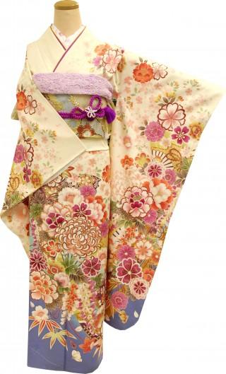 人気ブランド『ミルフィーユ』シリーズの振袖 正絹(シルク100%)