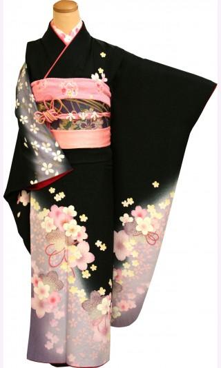 振袖レンタル 23点フルセット 桜(シルク100%)