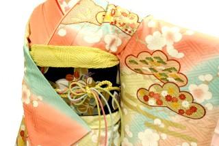 染めの北川の振袖 23点フルセット 正絹(シルク100%)の衣装画像2