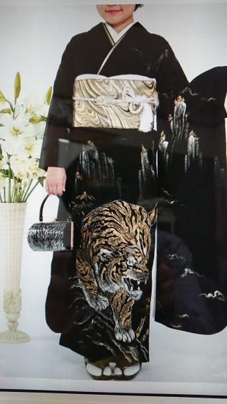 黒地  虎の衣装画像1
