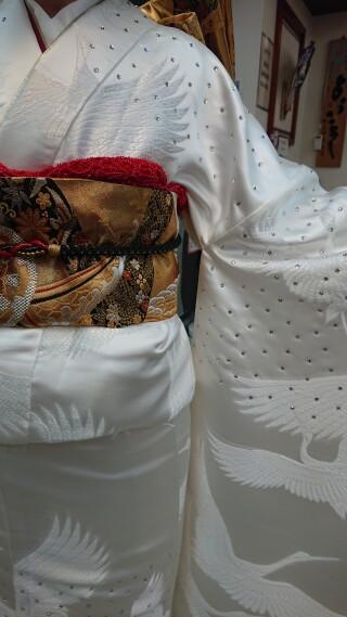 白無地スワロフスキーの衣装画像2