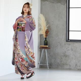 紫ぼかし 熨斗文様 (R825)の衣装画像1