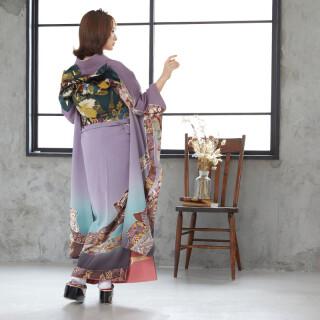 紫ぼかし 熨斗文様 (R825)の衣装画像2