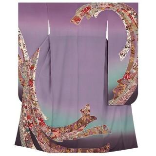 紫ぼかし 熨斗文様 (R825)の衣装画像3
