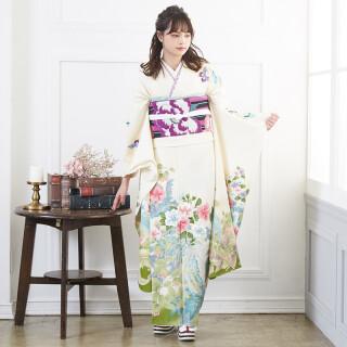 オフホワイト 鳳凰に四季の花々 (R1248)の衣装画像1