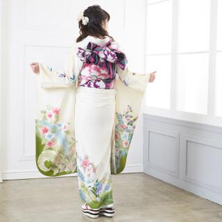 オフホワイト 鳳凰に四季の花々 (R1248)の衣装画像2