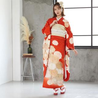 朱色 絢爛菊華 (R876)の衣装画像1