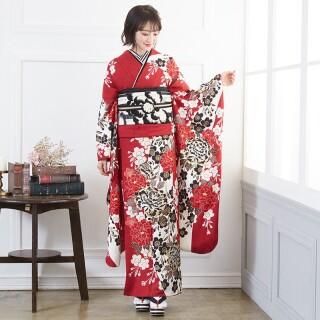 赤 豪華金彩 牡丹桜 (R1358)の衣装画像1