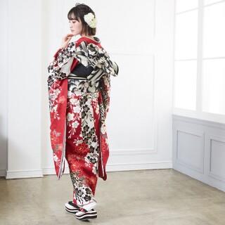 赤 豪華金彩 牡丹桜 (R1358)の衣装画像2
