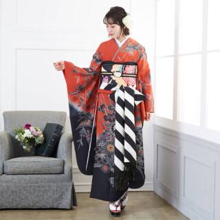 赤×黒 紅型 四季花鳥苑 (R678)の衣装画像1