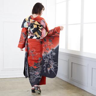 赤×黒 紅型 四季花鳥苑 (R678)の衣装画像2