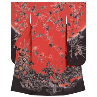 赤×黒 紅型 四季花鳥苑 (R678)の衣装画像3