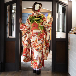 九重(ここのえ) クリーム色 橘と笹竹(R1854)の衣装画像3