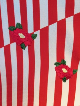 【きもの道楽】斜め縞 [赤]の衣装画像2