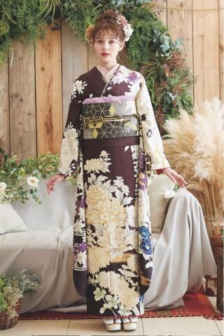 振袖ブランド PETIT BLANC(紫)の衣装画像2