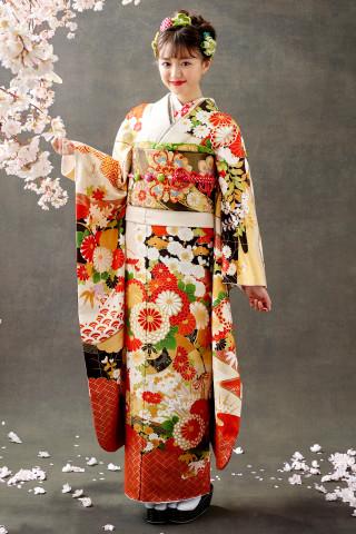 【新作振袖・オレンジ】OR-2024の衣装画像2