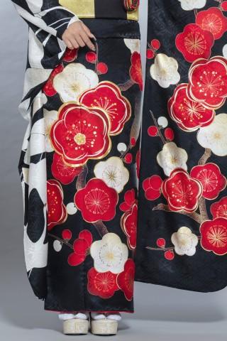 【レトロモダン振袖・黒】OR-2019の衣装画像2