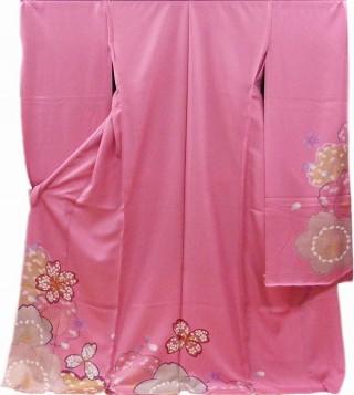 ピンク型友禅