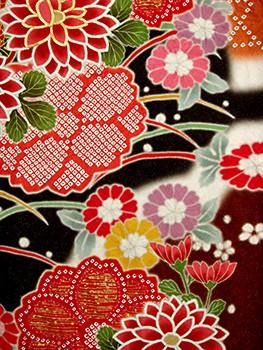 絞り京友禅 fu402 染め分け 雲の衣装画像2