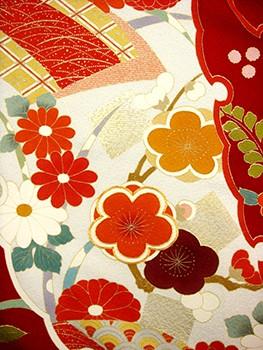 手描京友禅振袖 fu205 染め分け 雪輪の衣装画像2