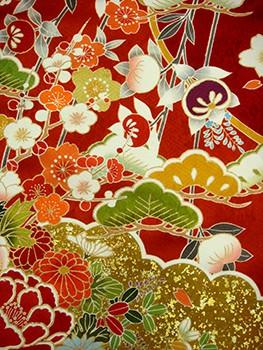 手描京友禅振袖 fu324 染め分け 桜の衣装画像2