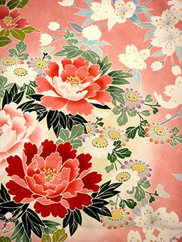 手描京友禅振袖 fu203 ピンク 牡丹の衣装画像2