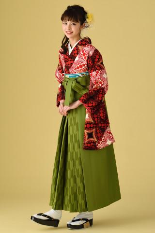 赤黒ドット袴の衣装画像1