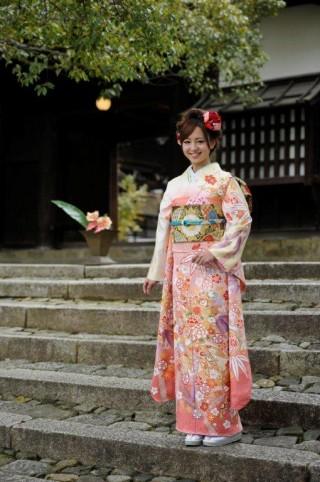 京都きもの工房グループ ピンク 古典