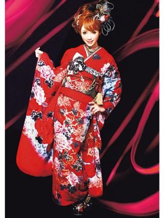 【新作】着物ageha 八鍬里美(さとみん)着用 クールの衣装画像2