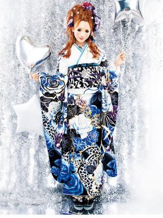 【新作】着物ageha 八鍬里美(さとみん)着用 ゴージャスの衣装画像1