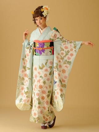 【新作】古典柄 水色 桜