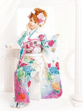 【新作】着物ageha 八鍬里美(さとみん)着用 キュートの衣装画像1