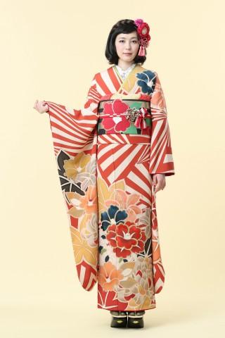 No.37731 限定ブランド「ミモア」Art Deco おもかげ(朱)