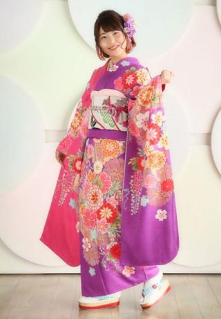【Tsubasa】いつだって可愛くいたい!ピンク×パープルの女の子らしい振袖
