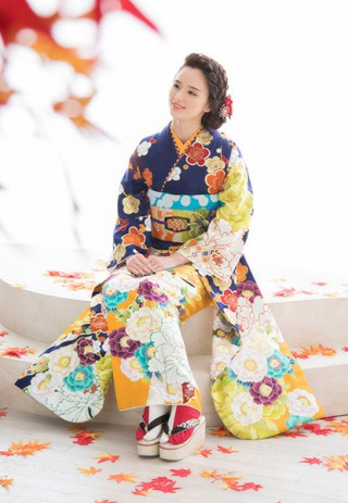 【ROLA FURISODE COLLECTION】〜ネイビー&オレンジ〜