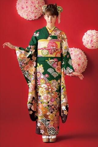 HANADOKI振袖コレクション(緑)