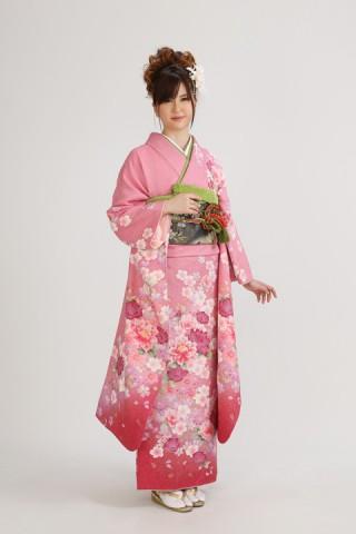 ピンク地桜(レンタル振袖一式 118,000円)