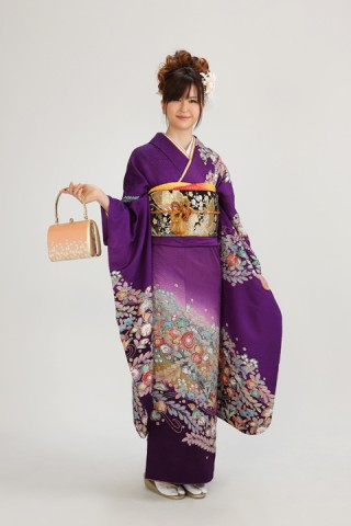 紫辻が花(レンタル振袖一式44,000円)