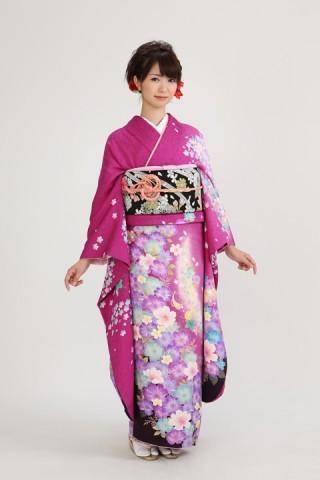 赤紫メルヘン(レンタル振袖一式 108,000円)