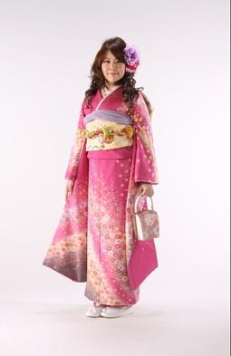ピンク花柄 100000円+税