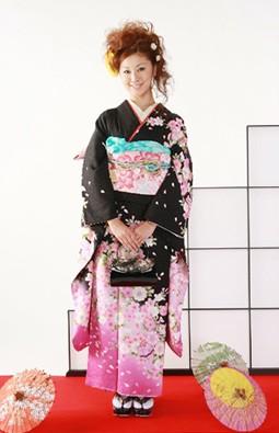 黒花柄 120000円+税