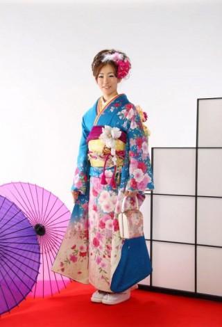 ブルー花柄 100000円+税