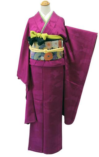 振袖無地(紫色)RF-97の衣装画像1
